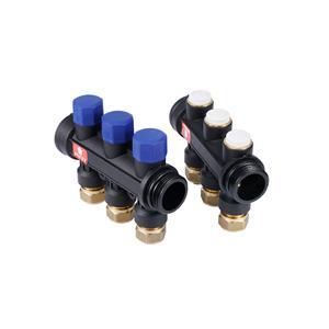 科斯曼铜塑一体式地暖分集水器水路分配器