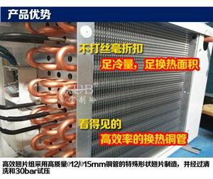 库宝欧洲型冷风机SPBE022D冷风机3匹电化霜