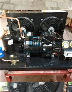 5p冷库制冷机组 压缩机 半封闭风冷41平方冷凝器