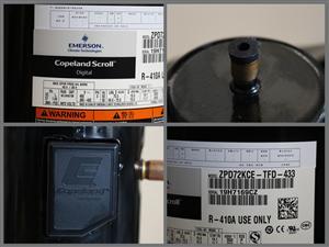 ZPD72KCE-TFD-433 6匹谷轮数码涡旋空调压缩机