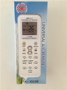 天长市一洋 空调万能遥控器1028E,有吸塑和纸盒两种包装方式