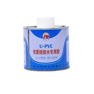 虎山泉PVC-U专用给水管胶水 毛重400G 30瓶/件 铁瓶