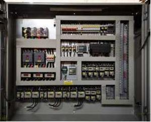 威海金贝螺杆机配电柜2+1并联螺杆控制箱