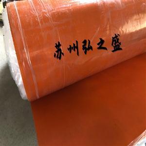 大量现货3个厚硅钛合金橡胶板 红色两布三胶硅胶布