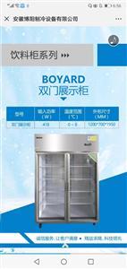 安徽博阳制冷设备有限公司 双门展示柜