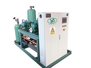 比泽尔50HP螺杆二并联低温蒸发冷机组
