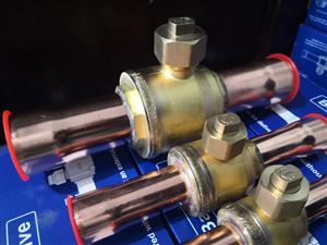 冷库空调制冷直通焊接铜球阀球形截止阀PKB-22/35mm
