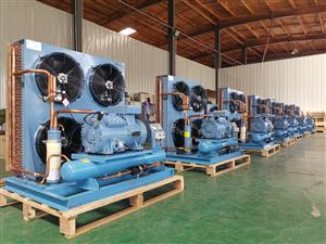 半封闭风冷式压缩机组 泰华冷源制冷设备 莱富康冷藏冷凝机组六缸